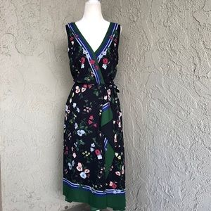 Ann Taylor floral And Stripe Belted Dress Sz 4